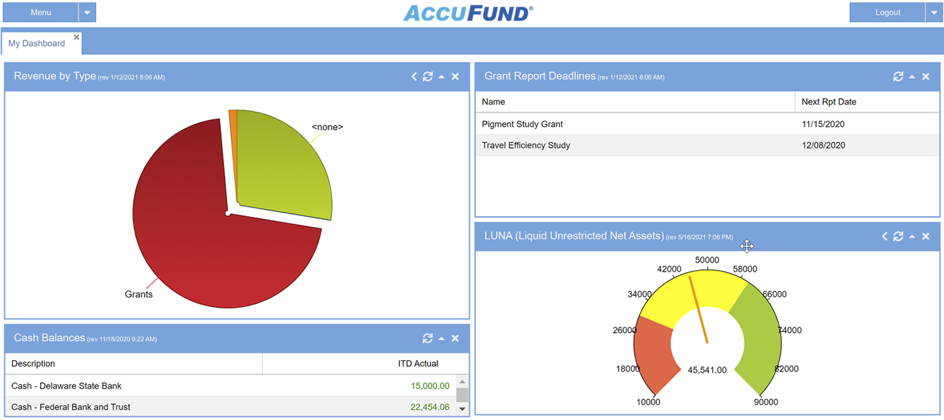 AccuFund Accounting Suite Software - AccuFund's true browser-based cloud accounting helps nonprofits and local governments adapt to a changing world. AccuFund Anywhere Online operates natively in a browser, not as windows-based screens hosted on a web server.