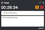 Cronforce screenshot: Built-in time clock optimised for instant time capture