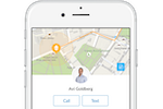 Dispatch screenshot: Provide customers with a live ETA and put them directly in touch with the worker