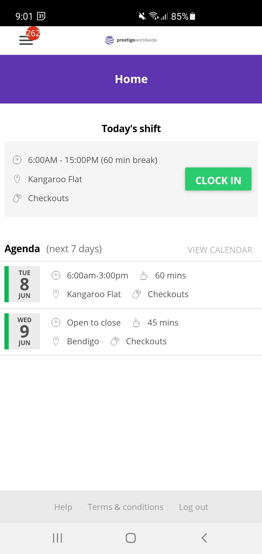 Ento Software - Easy clock in - time and attendance.