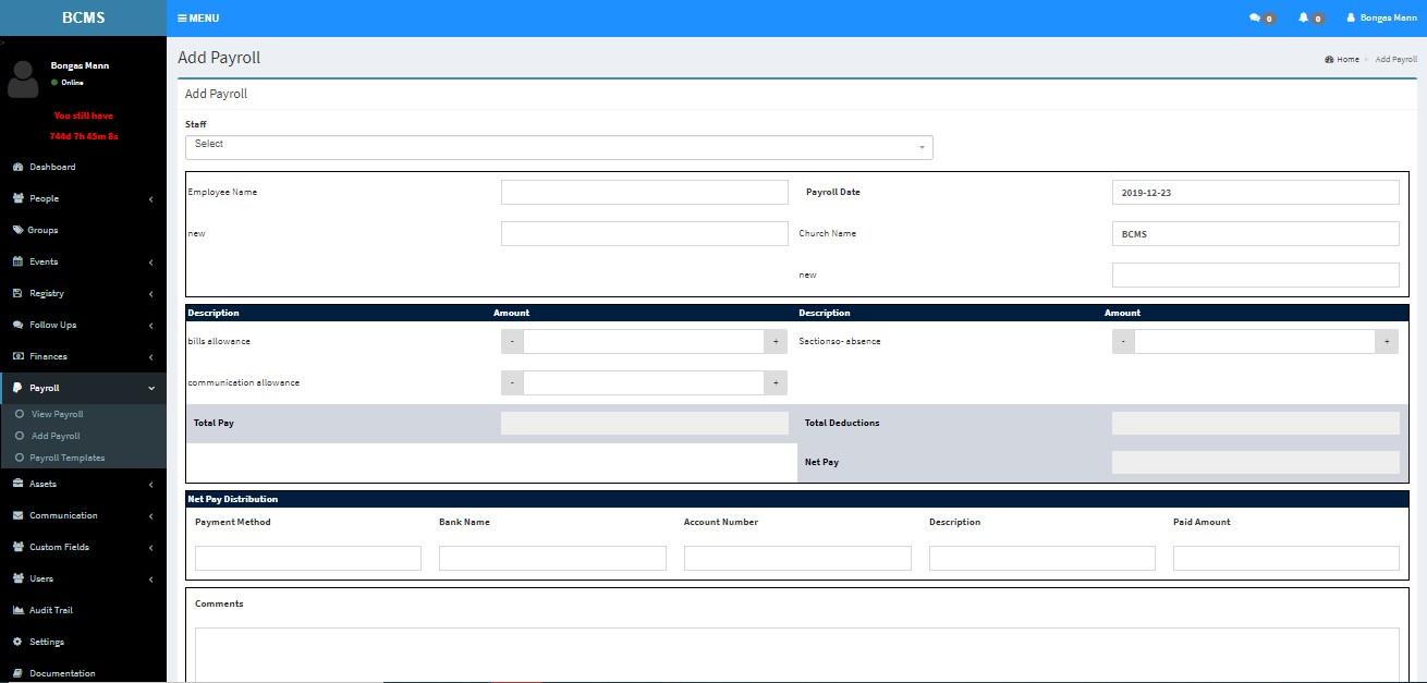 BCMS payroll management