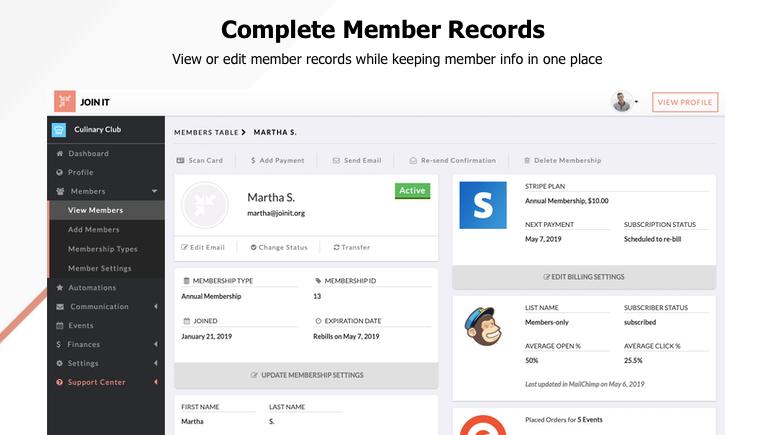 Join It Membership Records