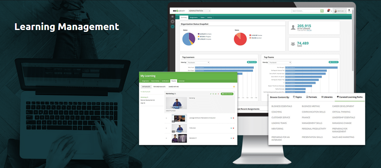 Our learning management system is built with both the administrator and end-user in mind.