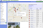 extendedReach screenshot: Foster homes can be viewed an filtered by geographic location, type of home, number of beds, and more