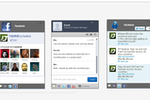 ClickDesk screenshot: Social toolbar for Facebook and Twitter