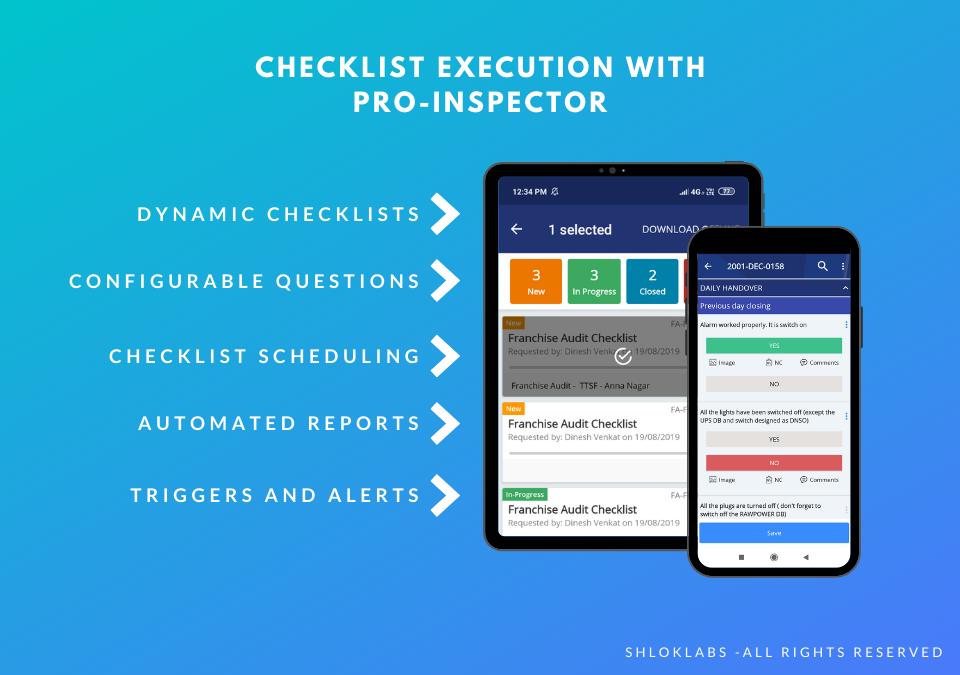 Pro-Inspector Software - Checklist Execution