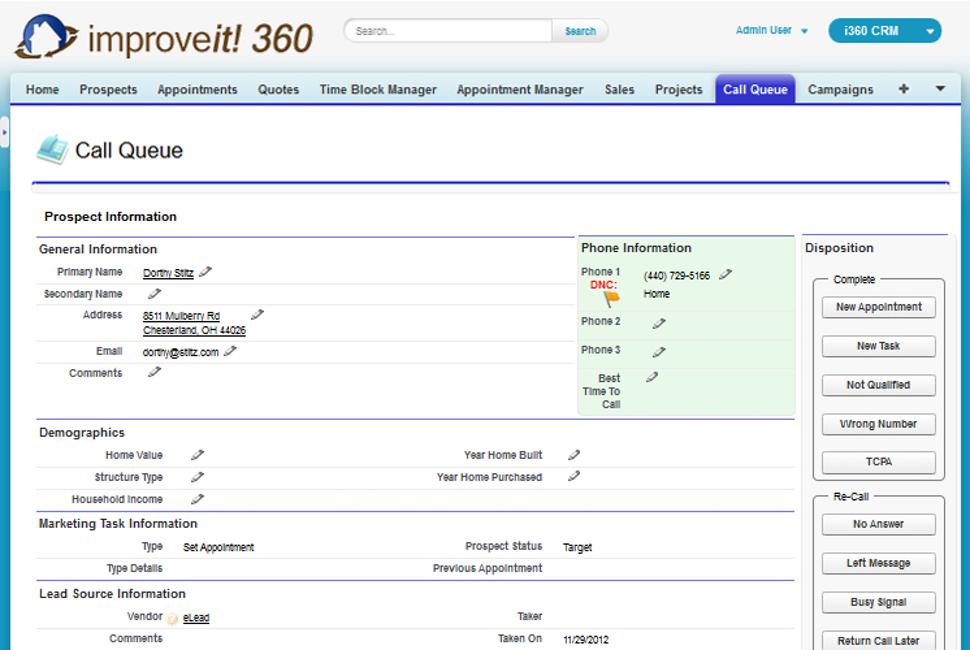improveit 360 Call Queue