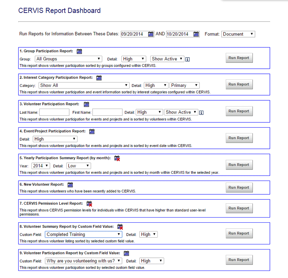 CERVIS Software - Reporting
