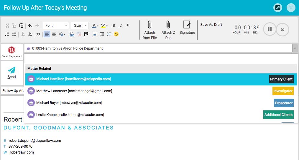 Zola Suite intelligent email