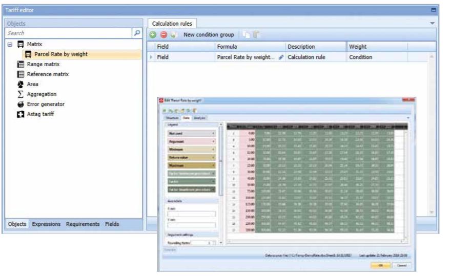 PTV Route Optimizer freight calculator screenshot