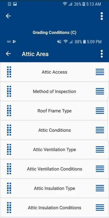 EZ Home Inspection Software grading condition