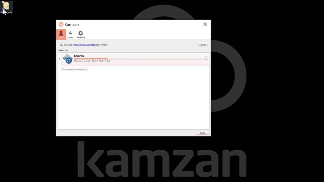 Kamzan screenshot: Kamzan synchronizing data