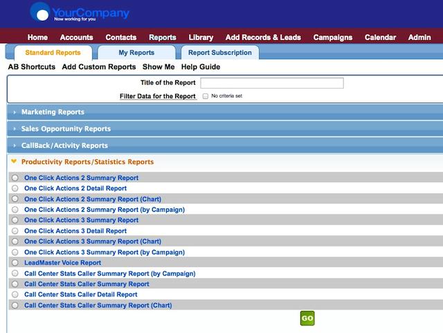 LeadMaster Software - Custom reporting