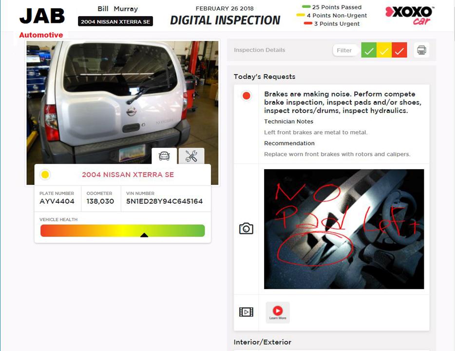Mobile Manager Pro Inspection Details