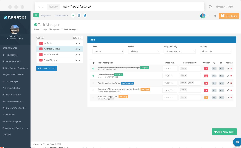 FlipperForce task manager screenshot