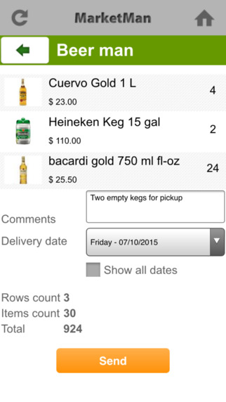 Automate ordering from current suppliers, add delivery date and notes