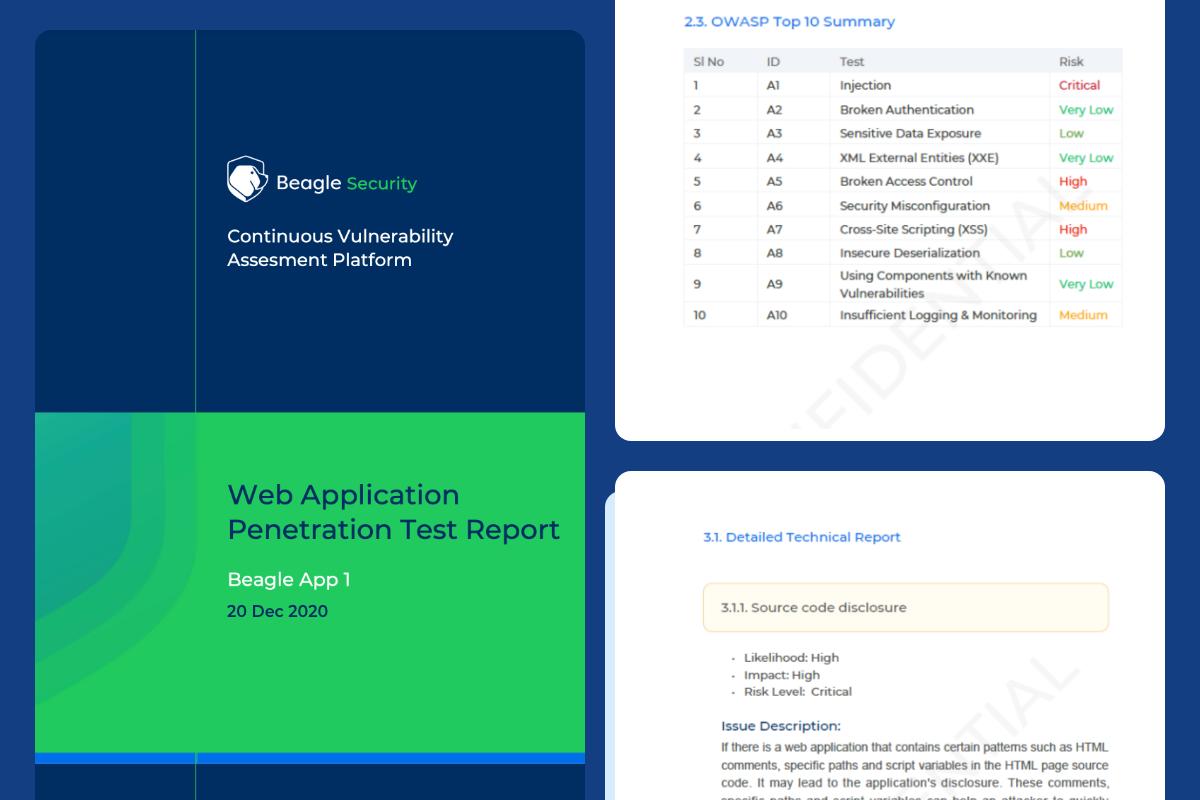 Beagle Security PDF reports