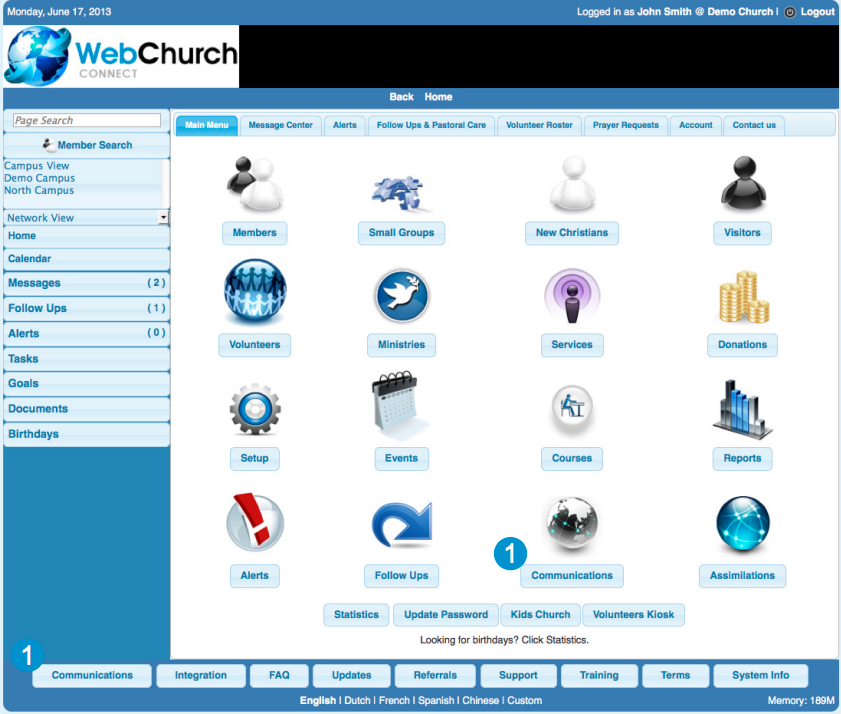 Web Church Connect assists users in managing all aspects of running a church day-to-day