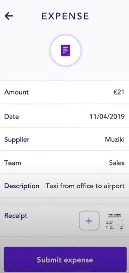 Spendesk submit expenses
