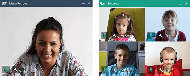Vedamo Virtual Classroom screenshot: Vedamo video conference