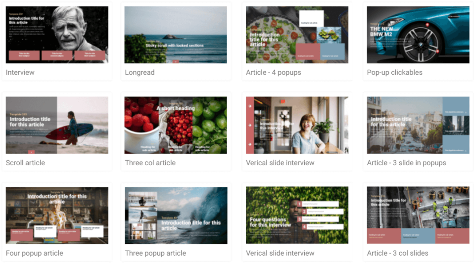 Maglr offers more than 150 responsive templates for different publication types