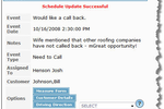 RooferPro screenshot: Receive reminder alerts for upcoming appointments or meetings