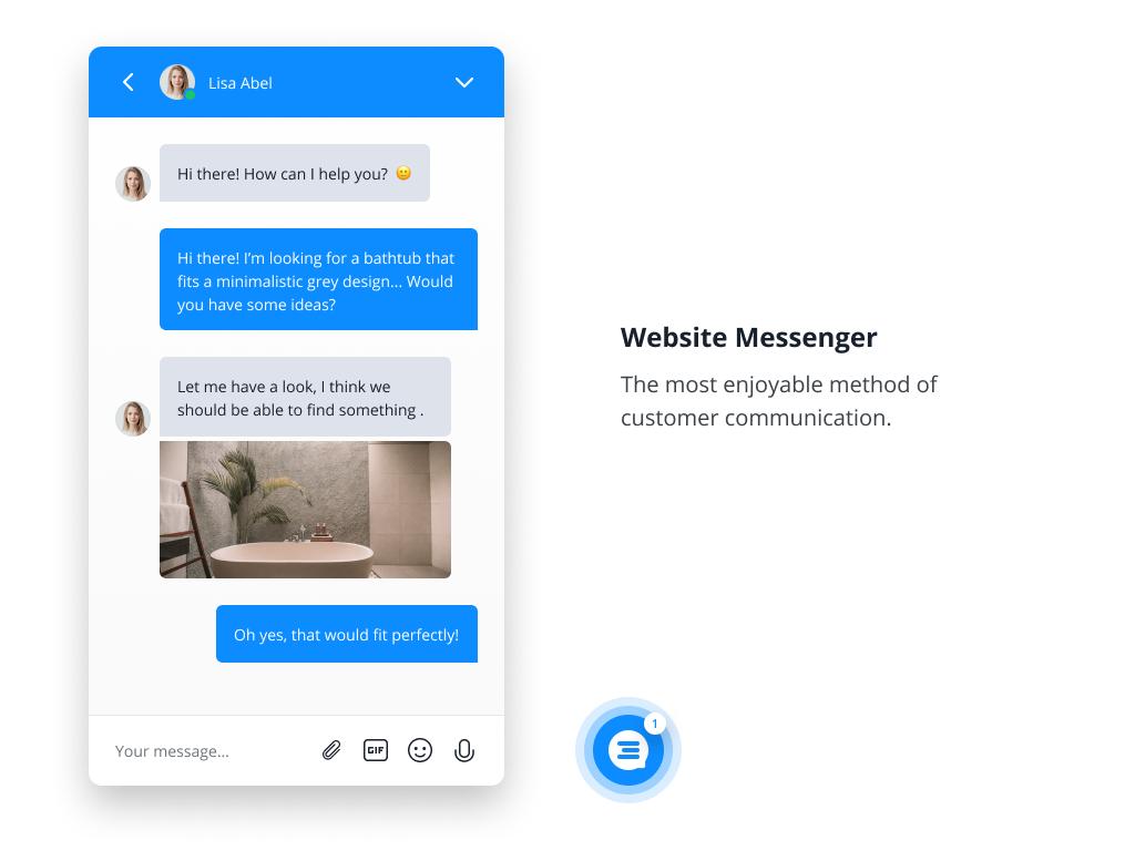 The innovative Userlike Website Messenger