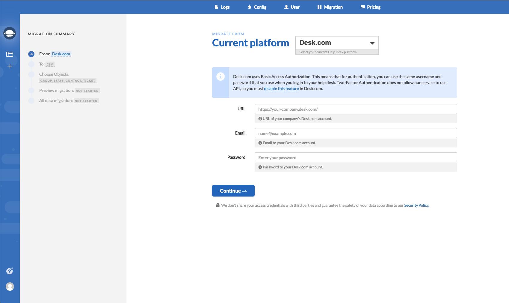 Help Desk Migration Software - 1