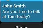 RingCentral Office screenshot: Apple Watch SMS messaging