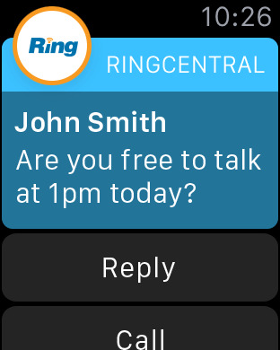 Apple Watch SMS messaging