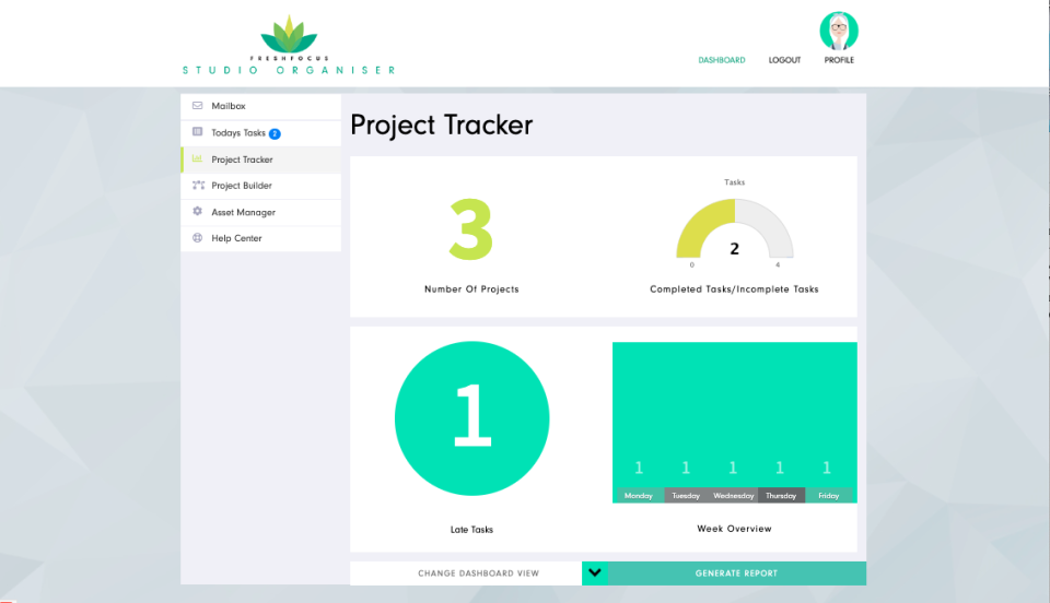 Project Planner Dashboard