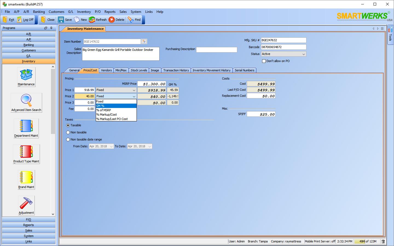 Smartwerks Software - Inventory maintenance