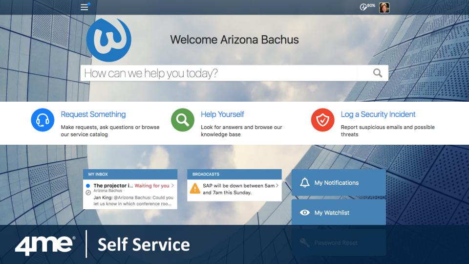 4me Software - Self Service