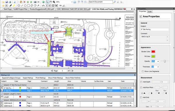 Vu360 Software - Construction plan