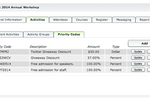 AMO screenshot: Generate discount codes and volume discounts