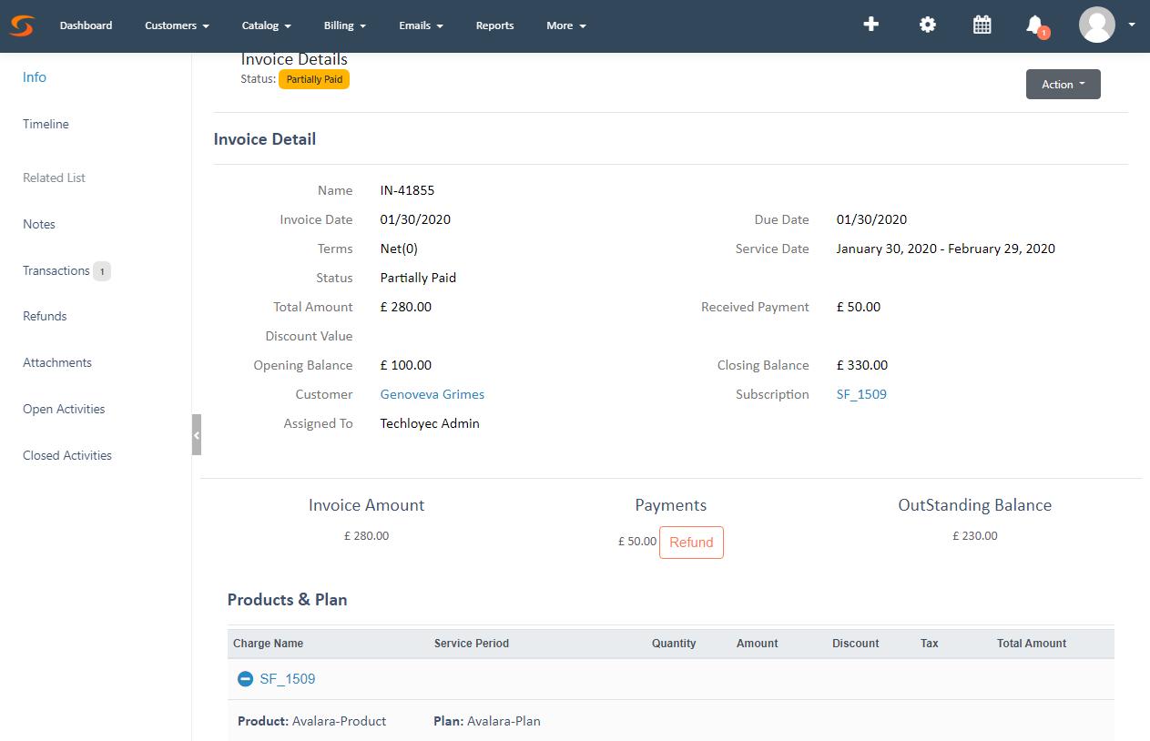 SubscriptionFlow invoice management