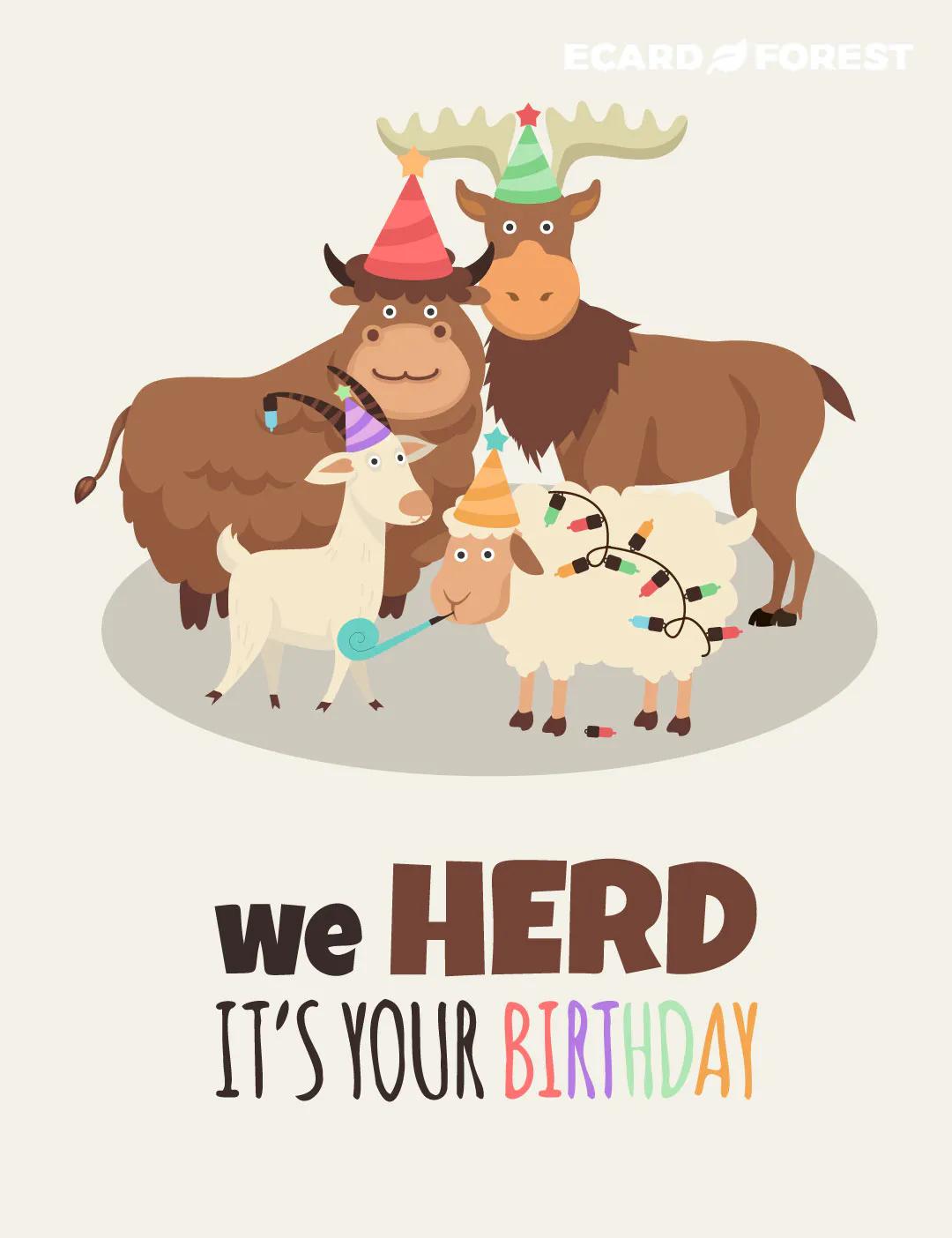 Happy birthday group greeting card