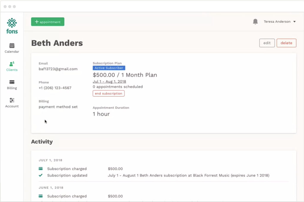 Personalized client profiles