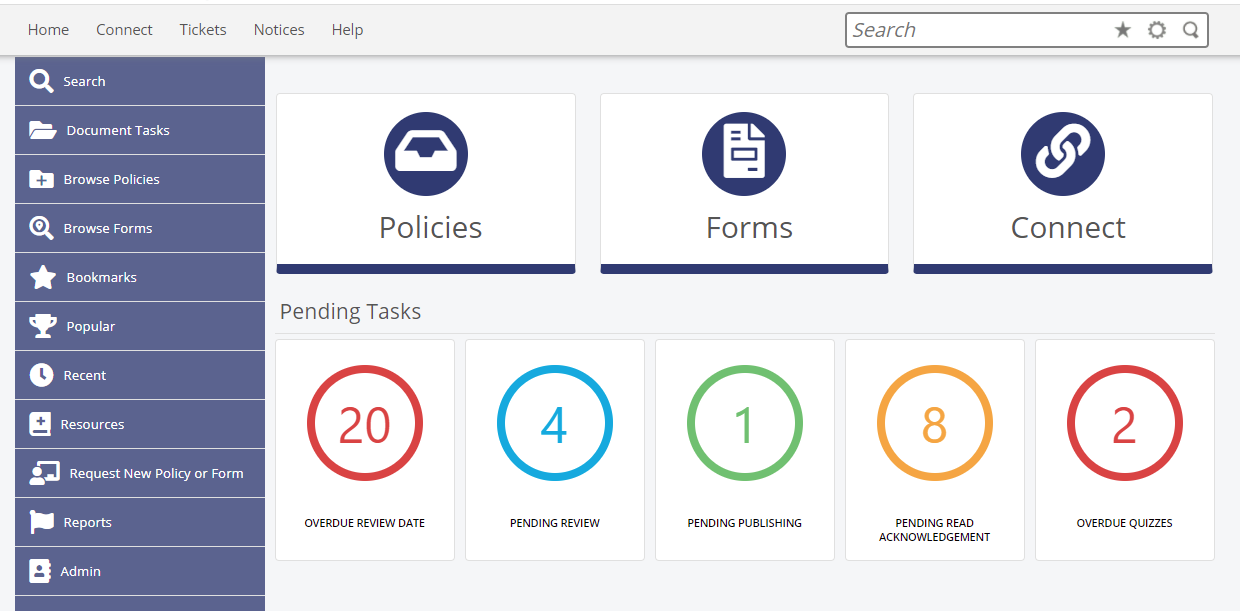 Interactive and automated policy management system