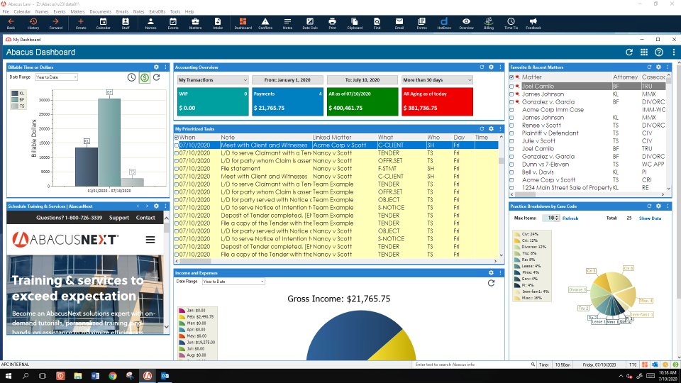 AbacusLaw Software - 3