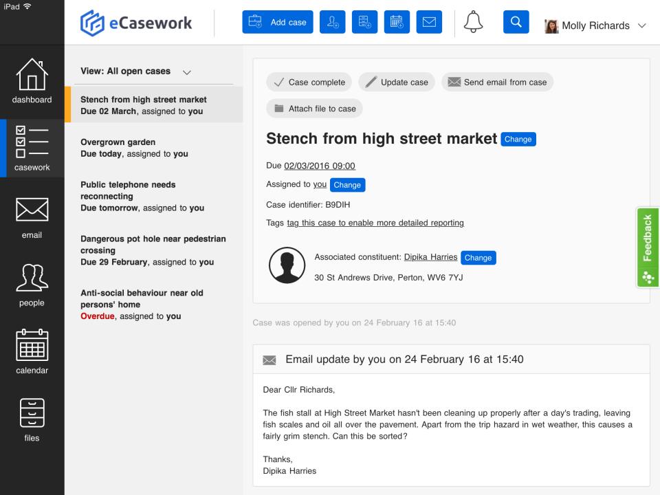 eCasework Logiciel - 2