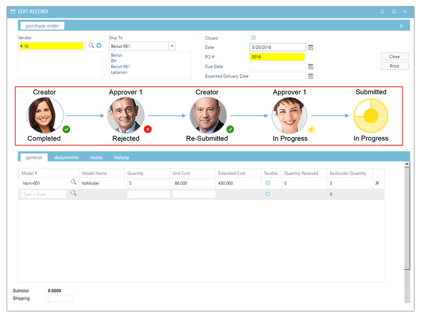 Set up approval workflow