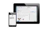 Schermopname van ezyVet: Two-way SMS, Email and E-Faxing reminder system.