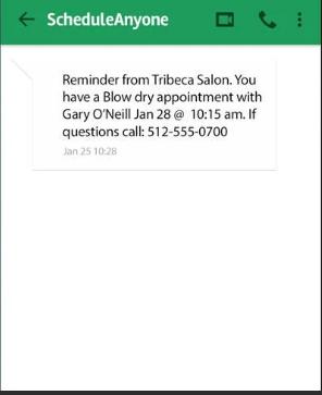 Schedule Anyone screenshot: Schedule Anyone SMS reminders