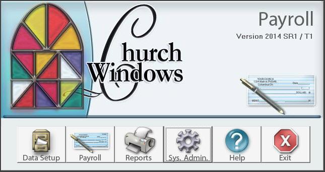 Print pay slips with Church Windows