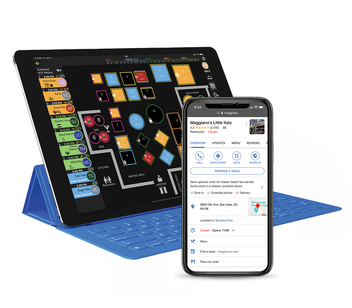 SpotOn Restaurant Software - SpotOn Reserve: Online reservations, Reserve with Google, Digital waitlisting, Contact tracing, Automated SMS confirmations, Two-way table-ready messaging, Guest text surveys