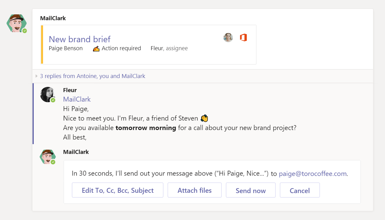 MS Teams - Send out your email or external messages directly within MS Teams