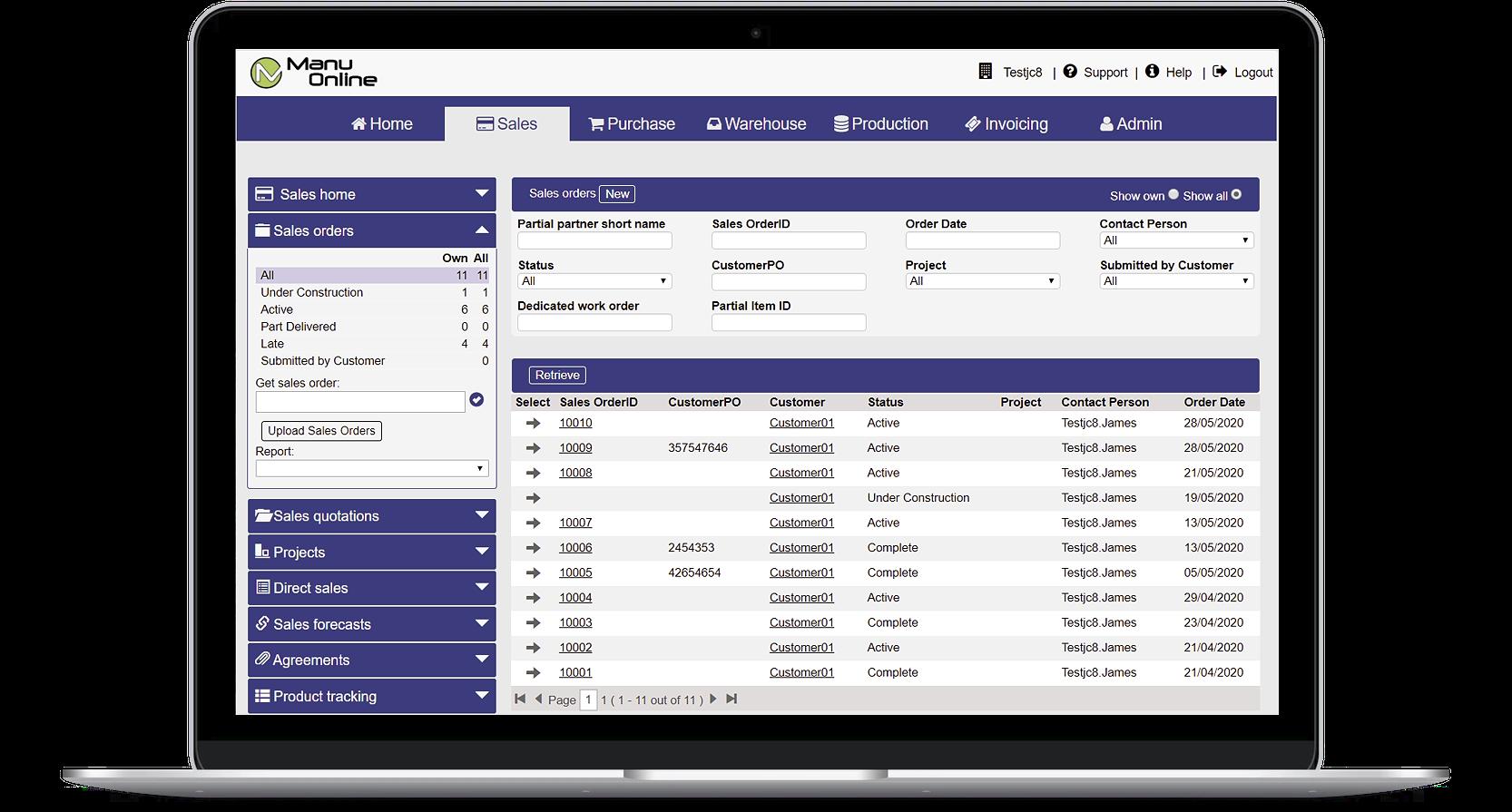 Manu Online Software - 1