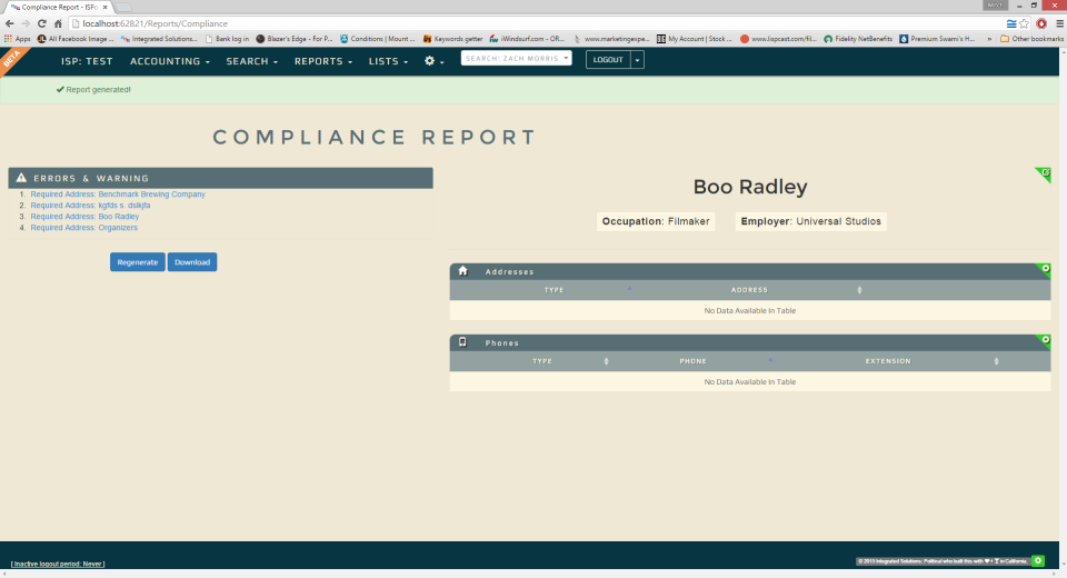 ISPolitical Software - What compliance should be