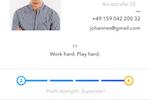 Capture d'écran pour Talentcube : Talentcube candidate CV